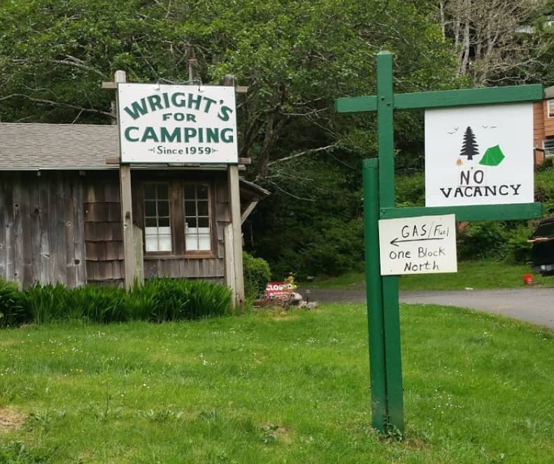 wrights for camping cannon beach